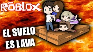 THE FLOOR IS LAVA WITH THE ANORMAL TEAM IN ROBLOX