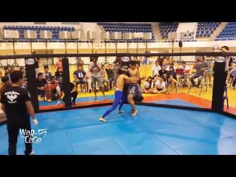 """War in the Cage 5 [Fight 11]: """"เก้าไม้ตาย vs ยอดเงิน เกียรติเทพพิทักษ์"""" Flyweight (-125lb)"""