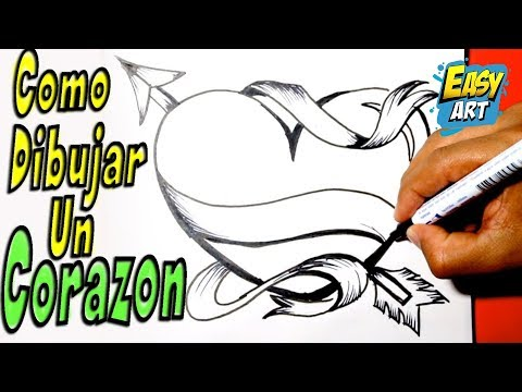 Como dibujar un corazon how to draw heart como hacer - Como decorar un dibujo ...
