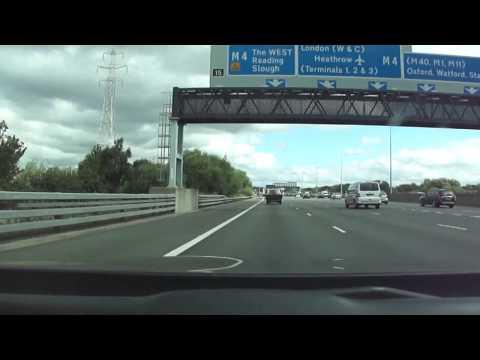 Driving on the M4 & M25 motorways England, U.K.