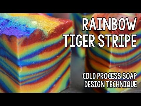 Rainbow Tiger Stripe Soap Week Two Soap Challenge 2013