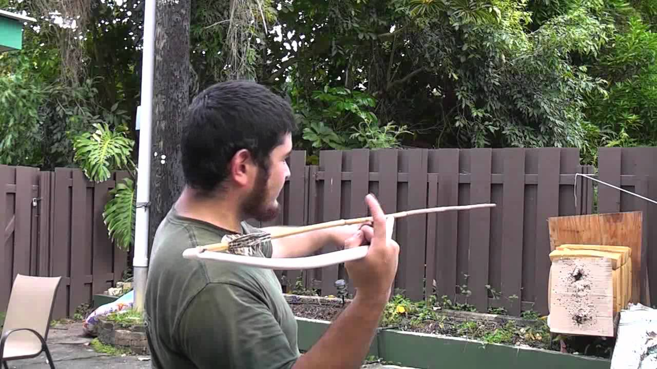 Throwing The Pvc Atlatl With Dart Rest Youtube