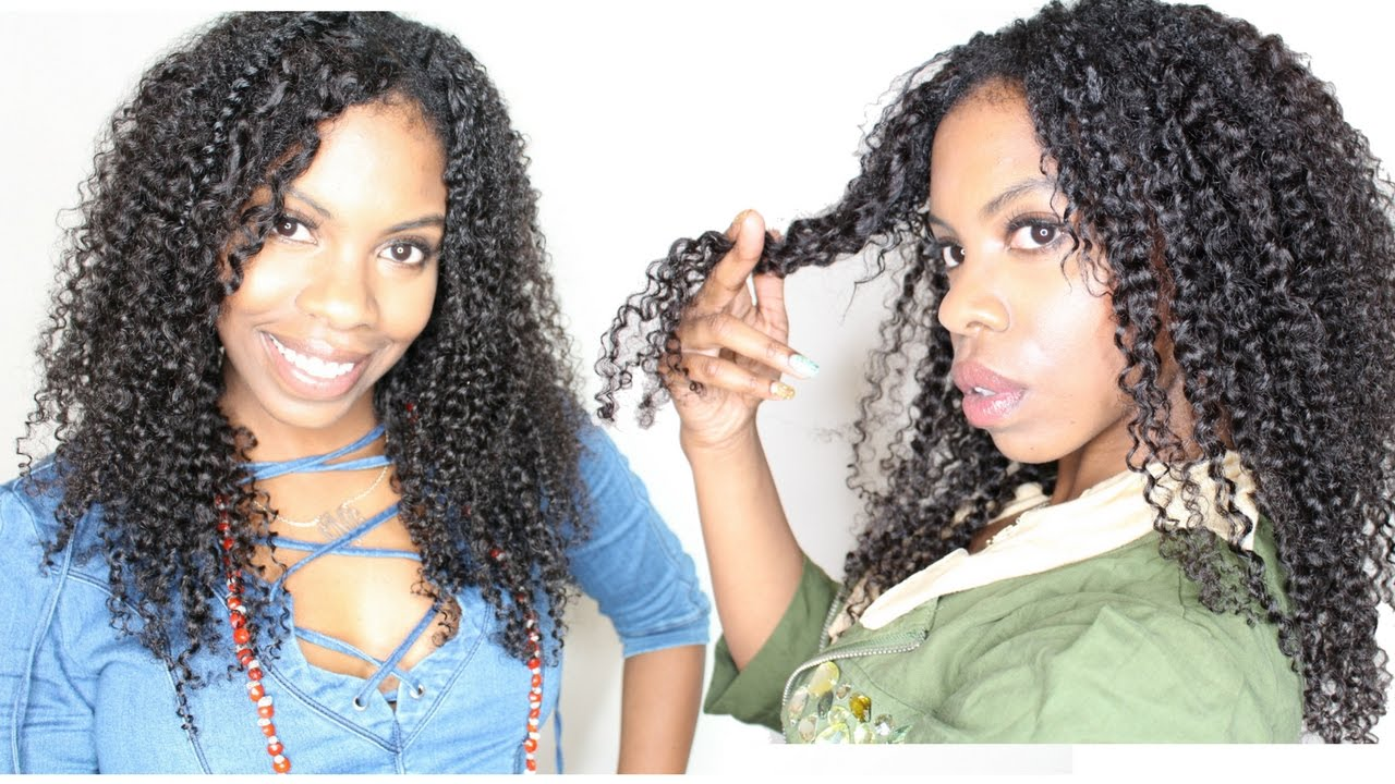 How To Define Curly Weave Haute Kinky Hair Youtube