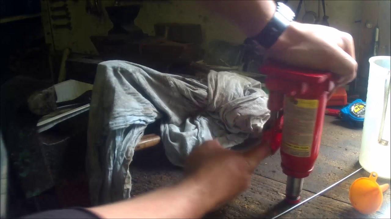 fabrication d'une presse hydraulique d'etablie 2 tonnes - YouTube
