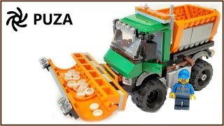 Lego City Snowplow Truck 60083 Speed Build