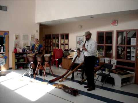 Didgeridoo & Drums Presenation at Annsworth Academy 2012 - Video One