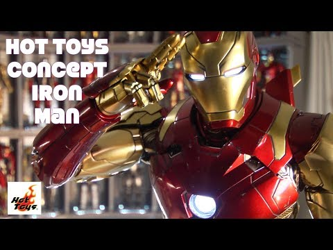Hot Toys MMS489 Concept Die-Cast Iron Man Mark 46 MCU unboxi