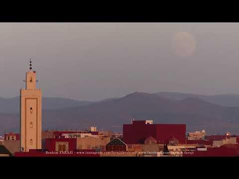 When the full moon rise in Oujda Sky - Morocco