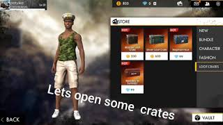 Free fire  crate opening