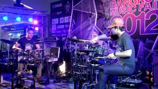 Drums Battle Session I - Note & Pak - Yamaha & Laney Bangkok Music Fair 2012 thumbnail