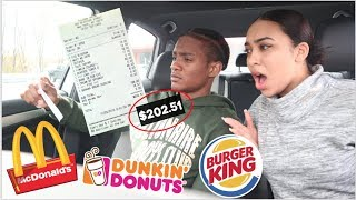 Letting The Person In FRONT of Me DECIDE What I Eat For 24 HOURS!!!
