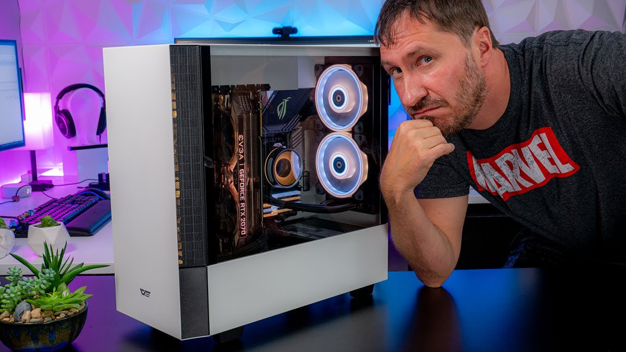 darkFlash DLV22 Gaming PC Case: The Case with a Vertical Motherboard Mount?!