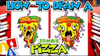 How To Draw A Zombie Pizza