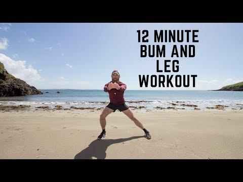 12 Minute Beach Leg and Bum HIIT Workout / Properly Built