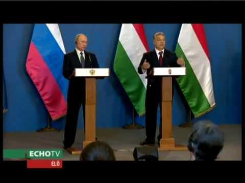 Vlagyimir Putyin és Orbán Viktor sajtótájékoztatója - Echo Tv