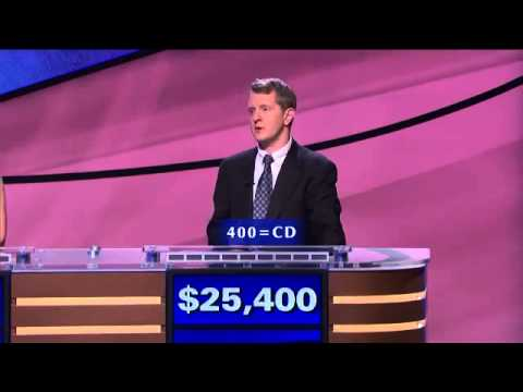 Ken Jennings Pwns Initials To Roman Numerals To Numbers On Jeopardy                         Ken Je