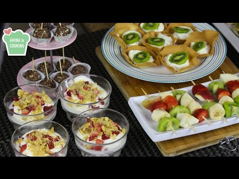 Dessert Finger Food Ideas - Episode 133 - Amina Is Cooking