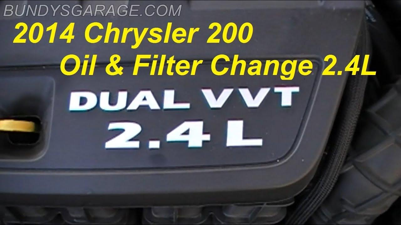 Chrysler 200 oil type