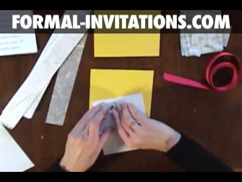 diy wedding invitations with belly bands youtube