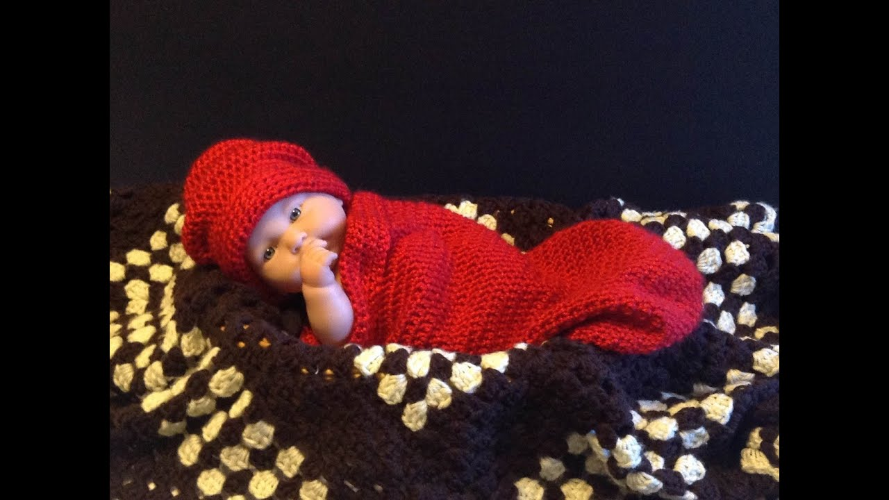 How to crochet Easy Newborn Baby Infant Cocoon tutorial - YouTube
