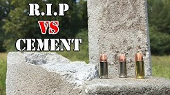 9mm R.I.P, Civic Duty, and Telos rounds vs Cement Bricks