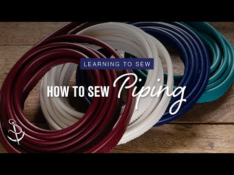 Learning to Sew Part 6: How to Add Piping