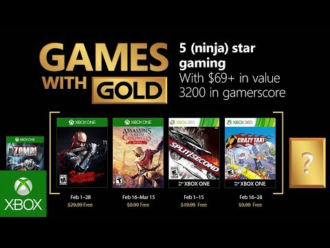Xbox - February 2018 Games with Gold