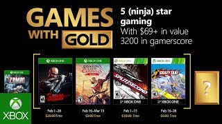 Xbox   February 2018 Games With Gold