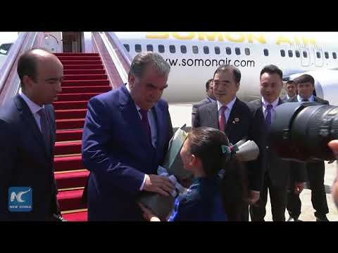 Tajik President Emomali Rahmon arrives in China's Xiamen for dialogue with BRICS nations
