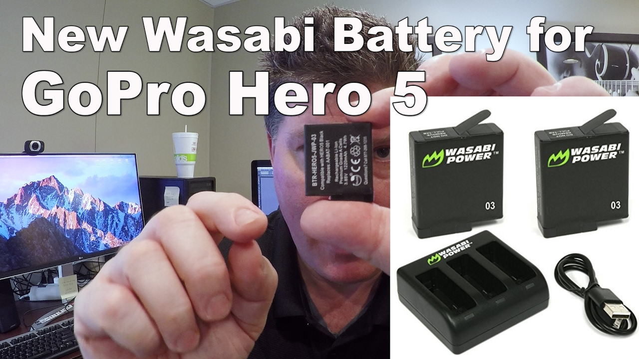 New Wasabi Gopro Hero5 Replacement Batteries Excellent Youtube 03