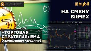 стратегия торговли по ЕМА (скользящие средние)  обзор Bybit