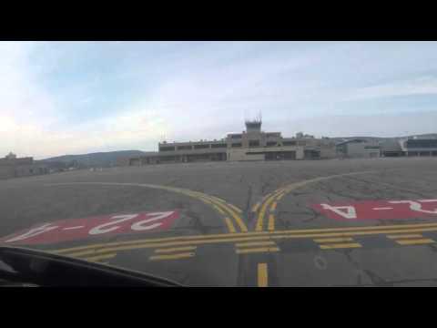 Citation Excel Landing at Wilkes-Berre Scranton International - KAVP