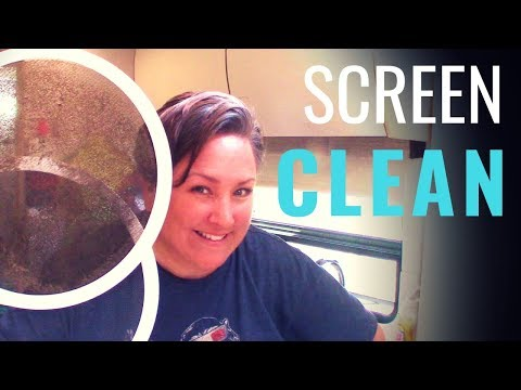 RV CLEANING HACK! How to clean your FAN SCREENS EASY EASY EASY!