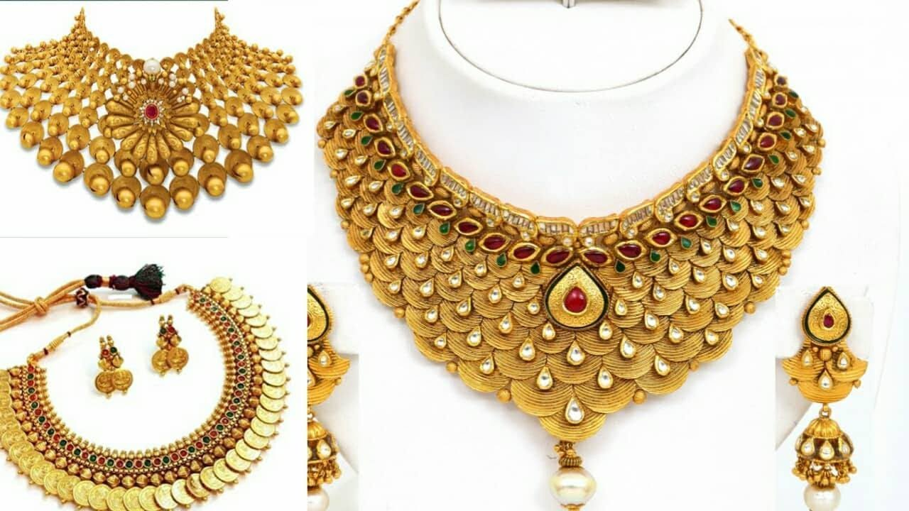 Latest Designer Beautiful Gold Necklace Design 2017-2018|Gold ...