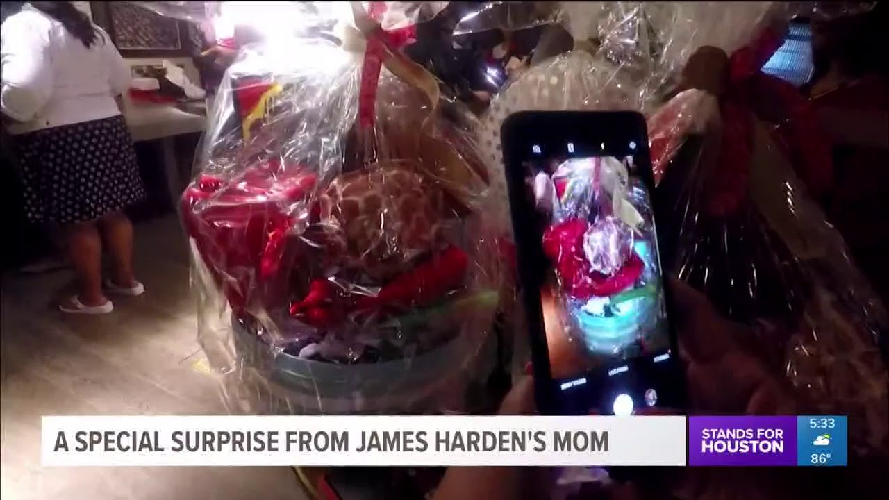 984ac0afca55 A special surprise from James Harden s mom - YouTube