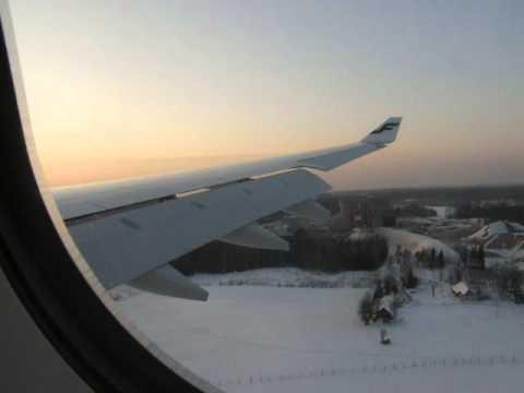 Finnair A330-300 landing in Helsinki