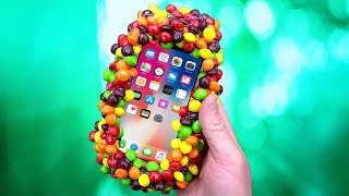 iPhone X mit 200 Skittles VS Polenböller - Experiment
