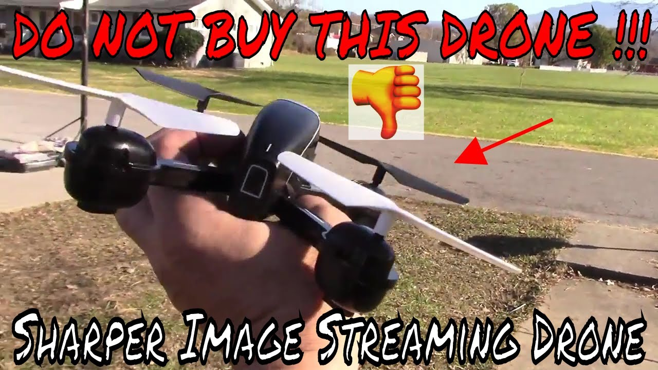 Sharper Image Streaming Drone In The Tree Youtube
