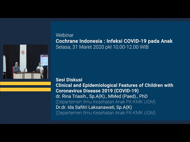Sesi Diskusi Clinical and Epidemiological Features of Children with Coronavirus Disease 2019 COVID19