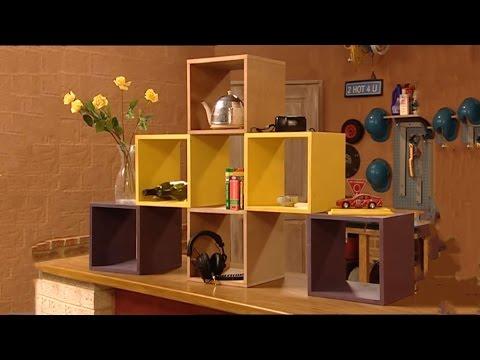 How to Make Modular Cube Shelves