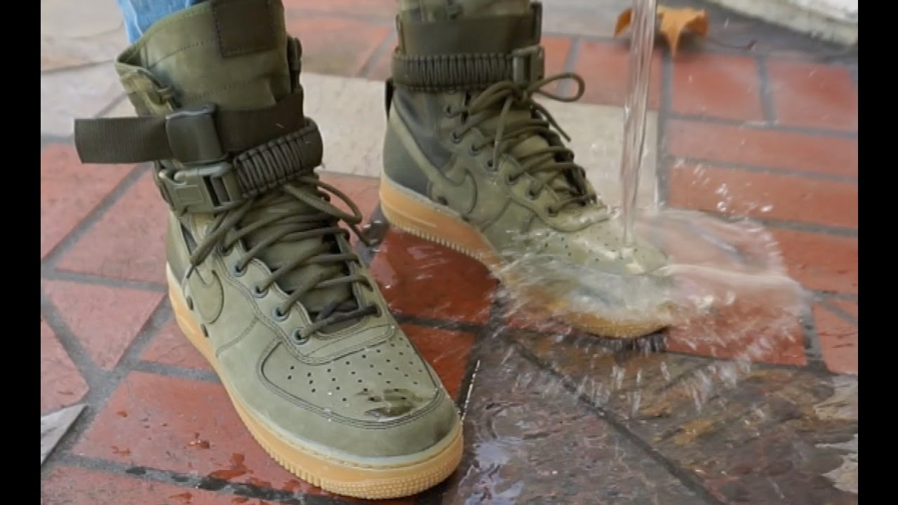 the latest 1f38e 67a27 NIKE SF AF1  REALEST ON FOOT + WATERPROOF TEST    NIKE SPECIAL FIELD AIR  FORCE 1
