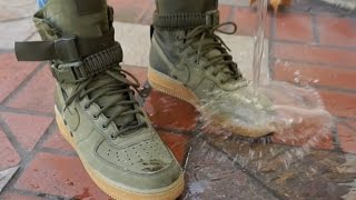 NIKE SF AF1: REALEST ON FOOT + WATERPROOF TEST // NIKE SPECIAL FIELD AIR FORCE 1