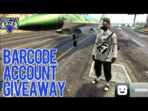 BARCODE ACCOUNT GIVEAWAY- GTA V ONLINE