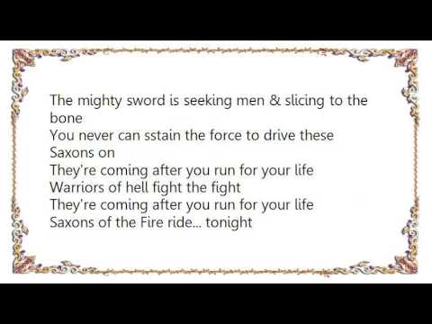 Exciter - Saxons of the Fire Lyrics