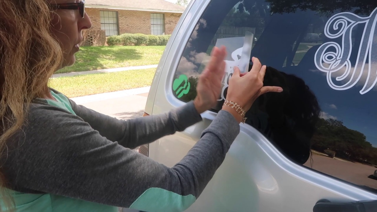 How To Put On A Car Decal - YouTube