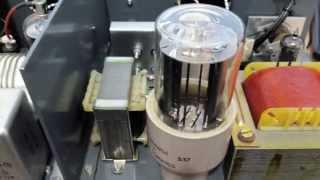 ham radio transmitter homebrew 3 tubes cw transmitter