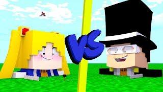 CASA SAILOR MOON VS CASA TUXEDO MASK - Minecraft Casa vs Casa
