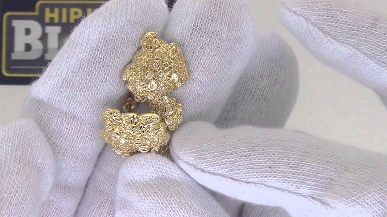 Gold Nugget Earrings Golden Jewelry
