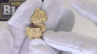 Gold Nugget Earrings | Golden Nugget Jewelry