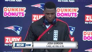 Josh Gordon Patriots vs. Chiefs Week 6 Postgame Press Conference